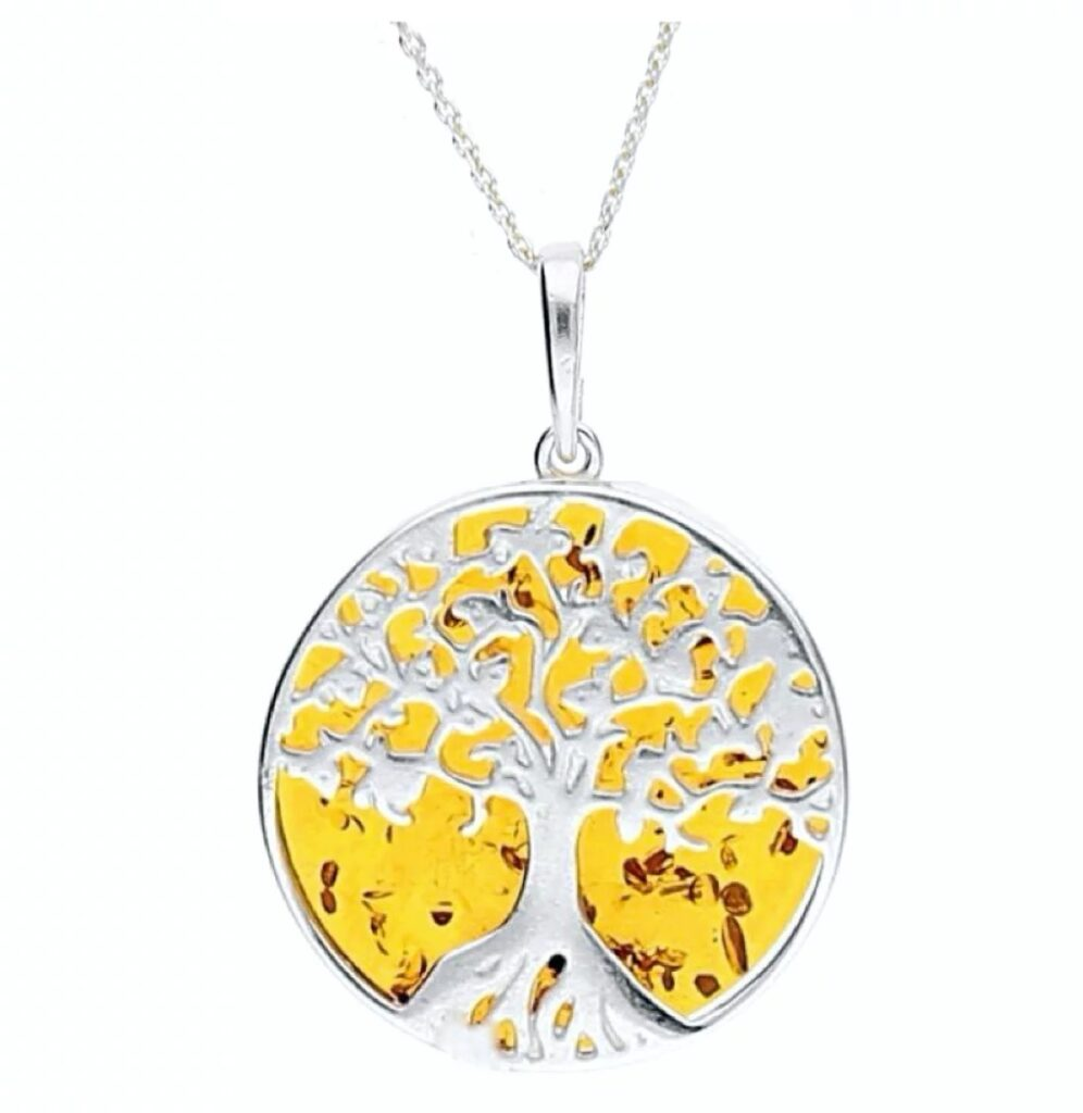 Tree of Life Amber Necklace